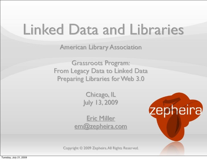 Linked Data and Libraries                           American Library Association                               Grassroots ...