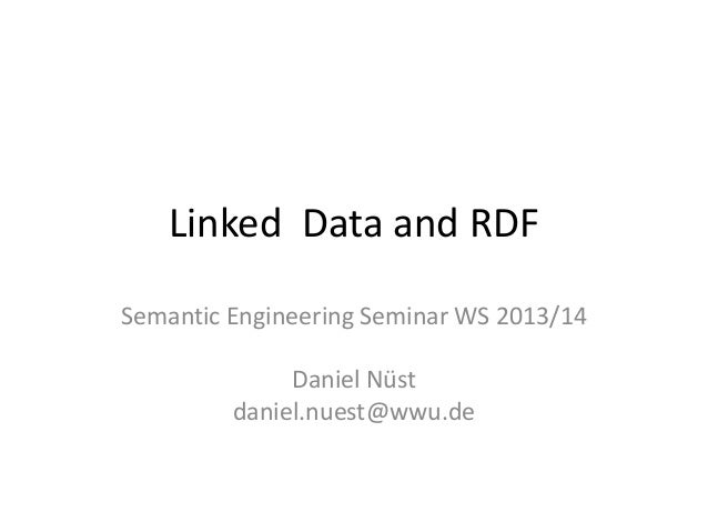 Linked  data and rdf