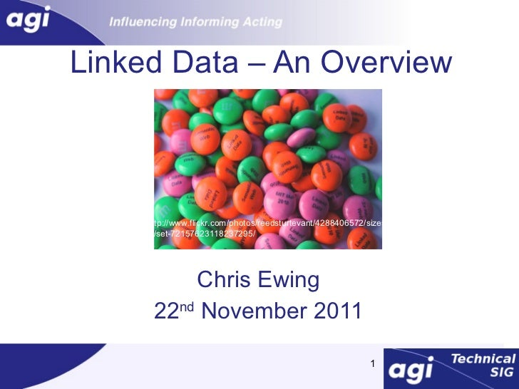 Linked Data – An Overview Chris Ewing 22 nd  November 2011 http://www.flickr.com/photos/reedsturtevant/4288406572/sizes/l/...