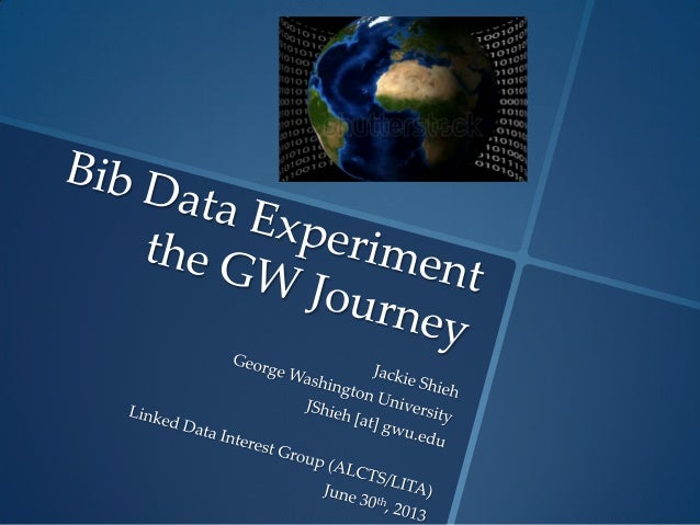 Bib Data Experiment -- The GW Journey