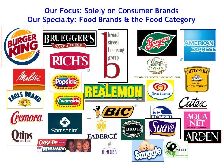 Our Focus: Solely on Consumer Brands Our Specialty: Food Brands & the Food Category