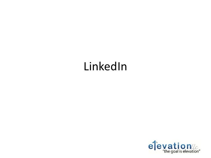 Getting Started with Linked in