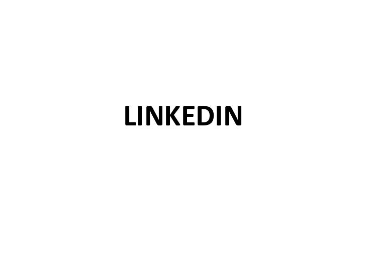 Setting up Your LinkedIn Account