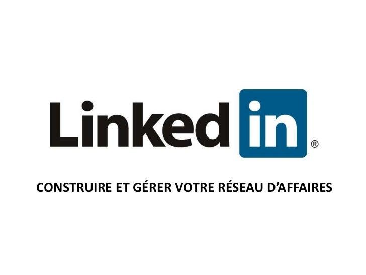 Linkedin CDEC 1er juin 2011