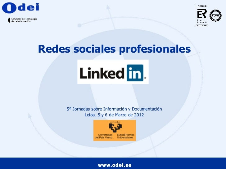 Redes sociales profesionales. LinkedIn