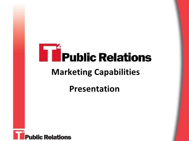 Marketing Capabilities     Presentation