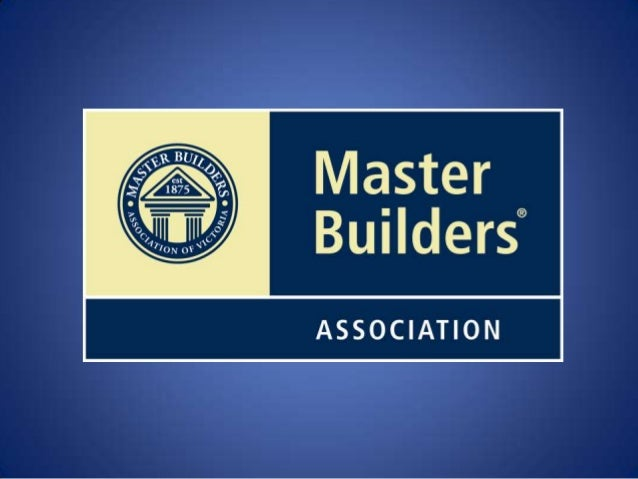 Master Builders Victoria Logo at Master Builders we Value