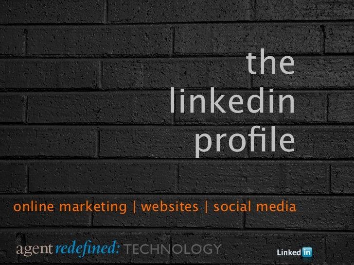 the                      linkedin                        profileonline marketing | websites | social media                T...