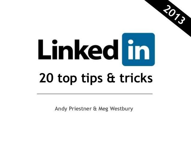 20 top tips & tricks  Andy Priestner & Meg Westbury