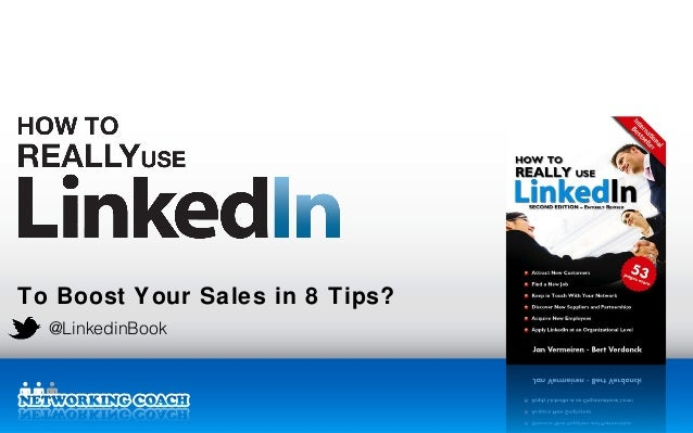 To Boost Your Sales in 8 Tips? @LinkedinBook