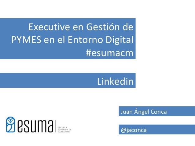 Executive en Gestión dePYMES en el Entorno Digital                #esumacm                  Linkedin                      ...