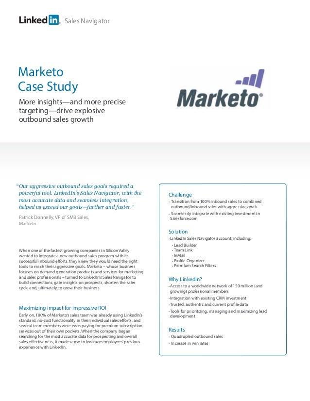Marketo-Sales Navigator Case Study