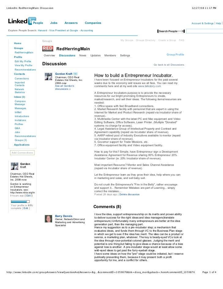 LinkedIn: RedHerringMain: Discussion                                                                                      ...