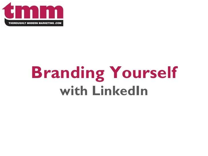 LinkedIn Training: Branding yourself on LinkedIn presented by Melissa Barker
