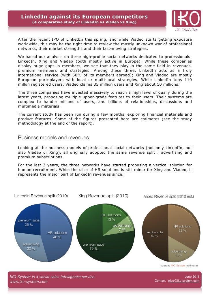 LinkedIn against its European competitors             (A comparative study of LinkedIn vs Viadeo vs Xing)                 ...