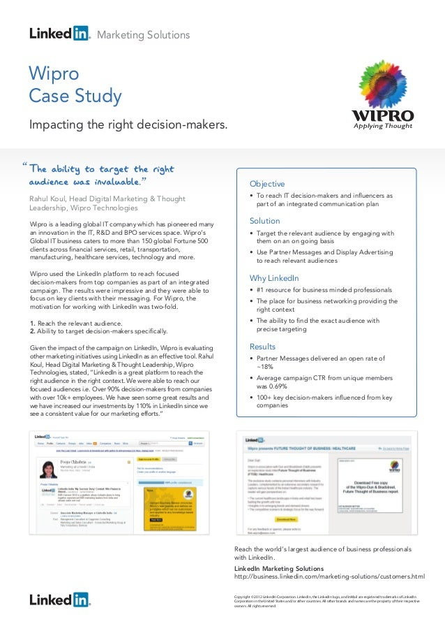 Wipro Technologies Case Study