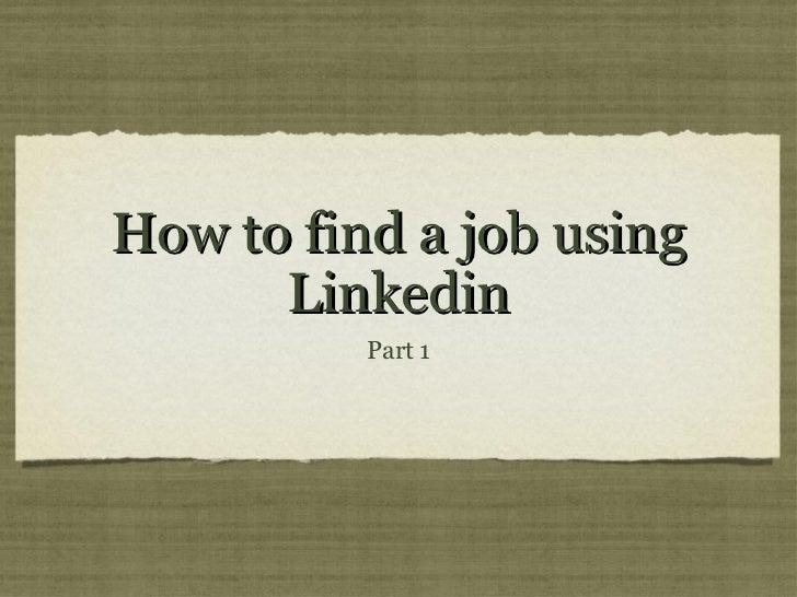 LinkedIn part 1 Incubator 107