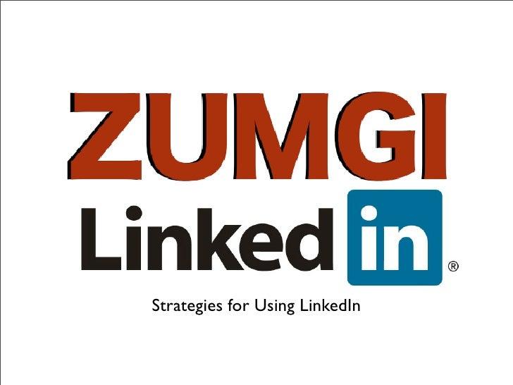 Strategies for Using LinkedIn