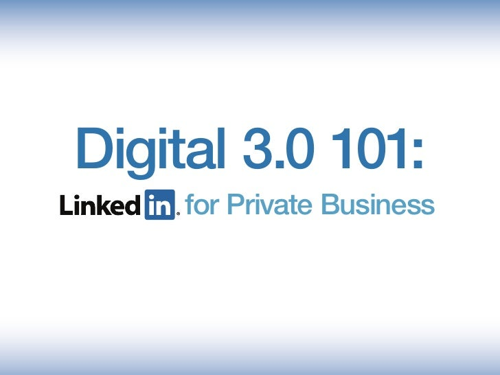LinkedIn 101 for Business
