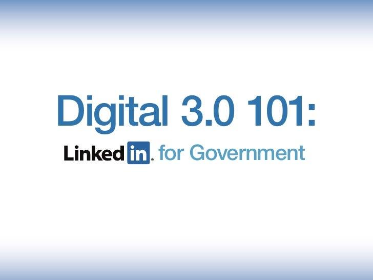 LinkedIn 101 for Government