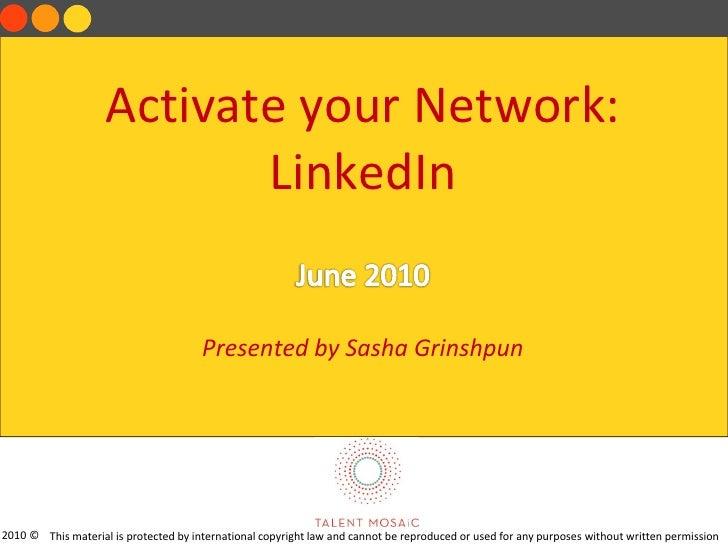 LinkedIn(2010) Sasha Grinshpun