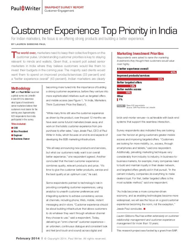 Customer Experience a top Priority in India