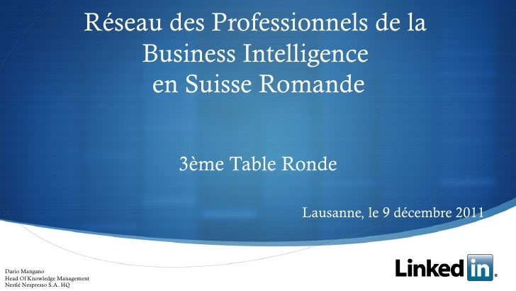 Linked In 3eme Table Ronde 20111209