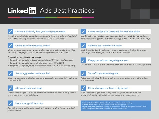 Ads Best Practices ✓      Determine exactly who you are trying to target                           ✓        Create multipl...