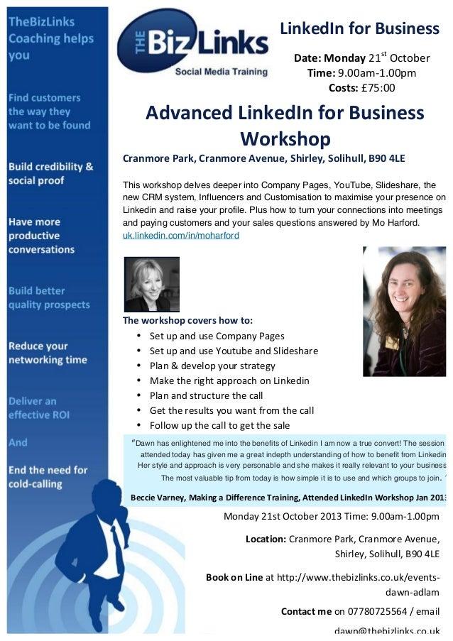 Linkedin Advanced Workshop