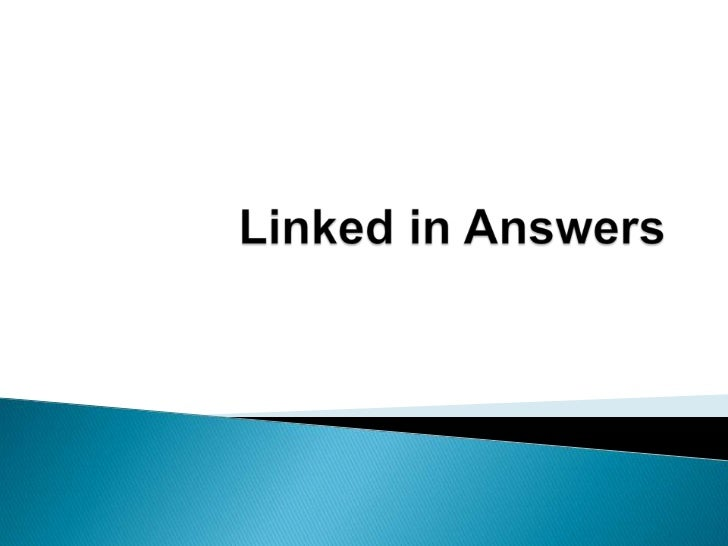 Linked in answers