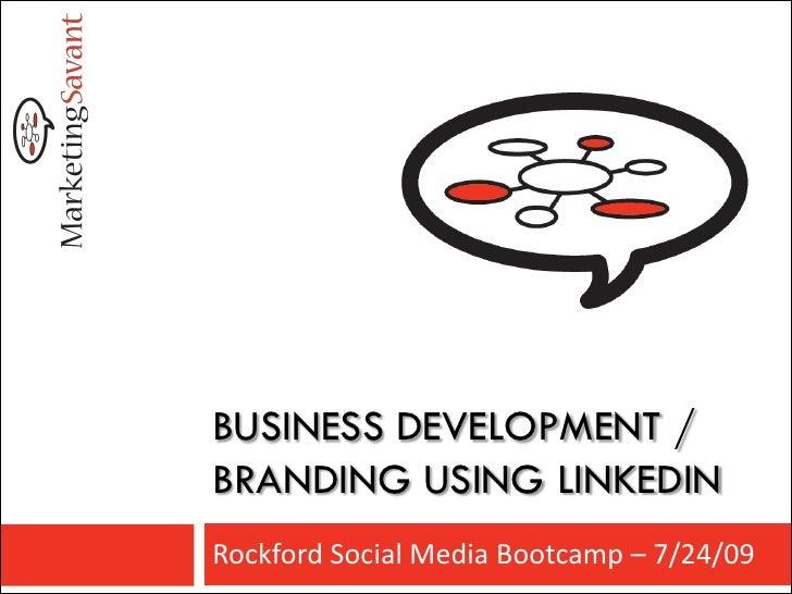 LinkedIn Branding - Biz Dev