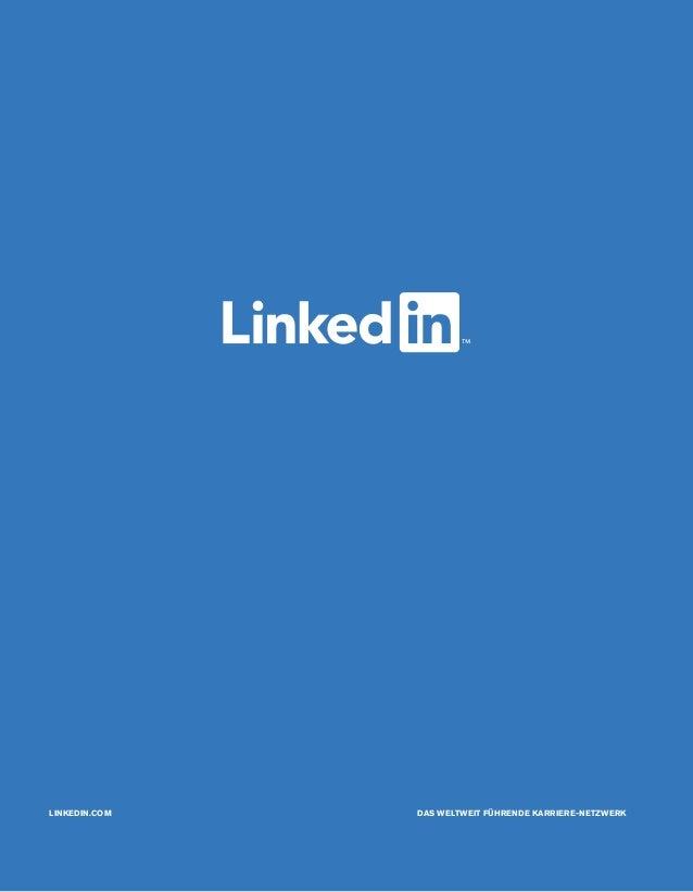 LINKEDIN.COM DAS WELTWEIT FÜHRENDE KARRIERE-NETZWERK