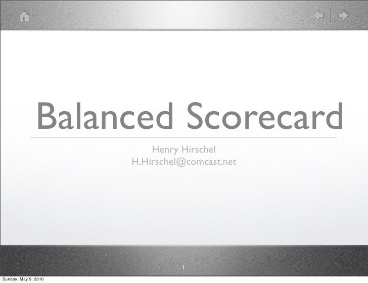 Balanced Scorecard Adoption