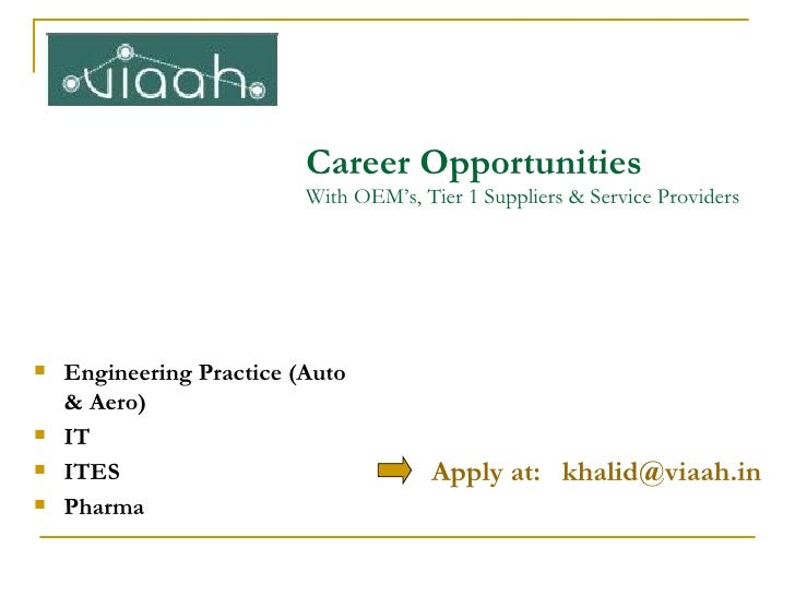 Linked In Career Opportunities