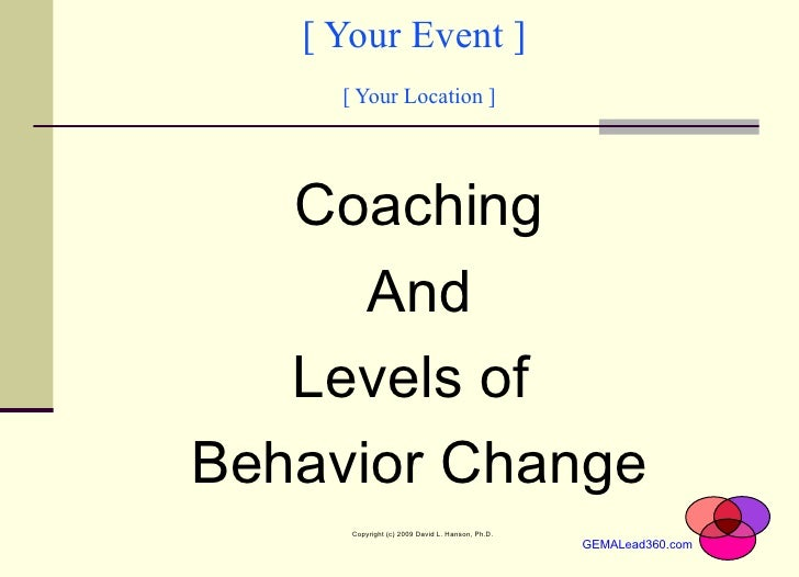 [ Your Event ]  [ Your Location ] <ul><li>Coaching </li></ul><ul><li>And </li></ul><ul><li>Levels of  </li></ul><ul><li>Be...