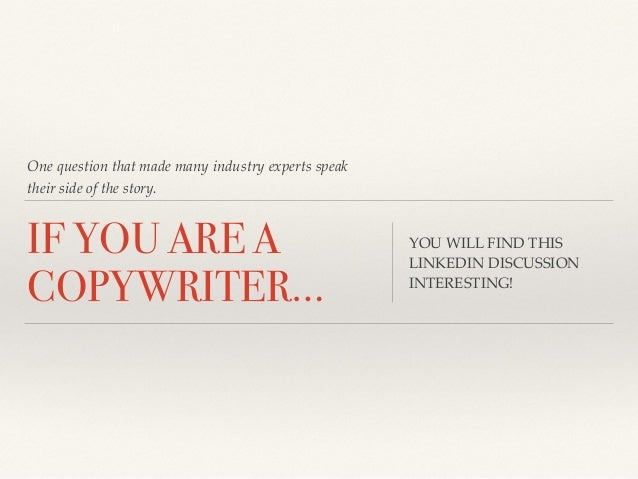 Copywriting - PowerPoint PPT Presentation