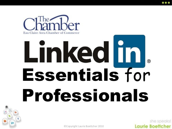 Linked In Essentials For Professionals