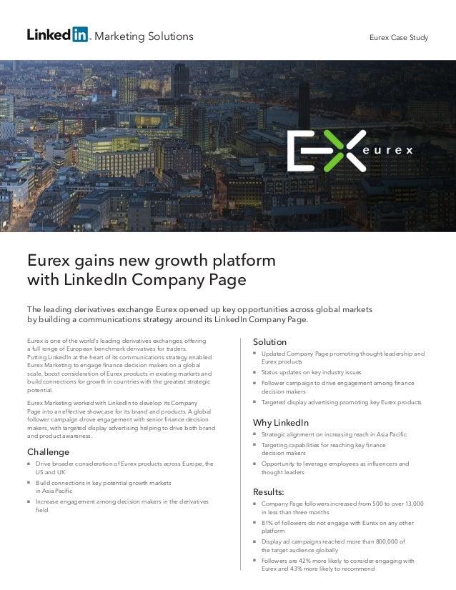 Eurex Case Study: Gaining New Growth Platform with LinkedIn Company Page