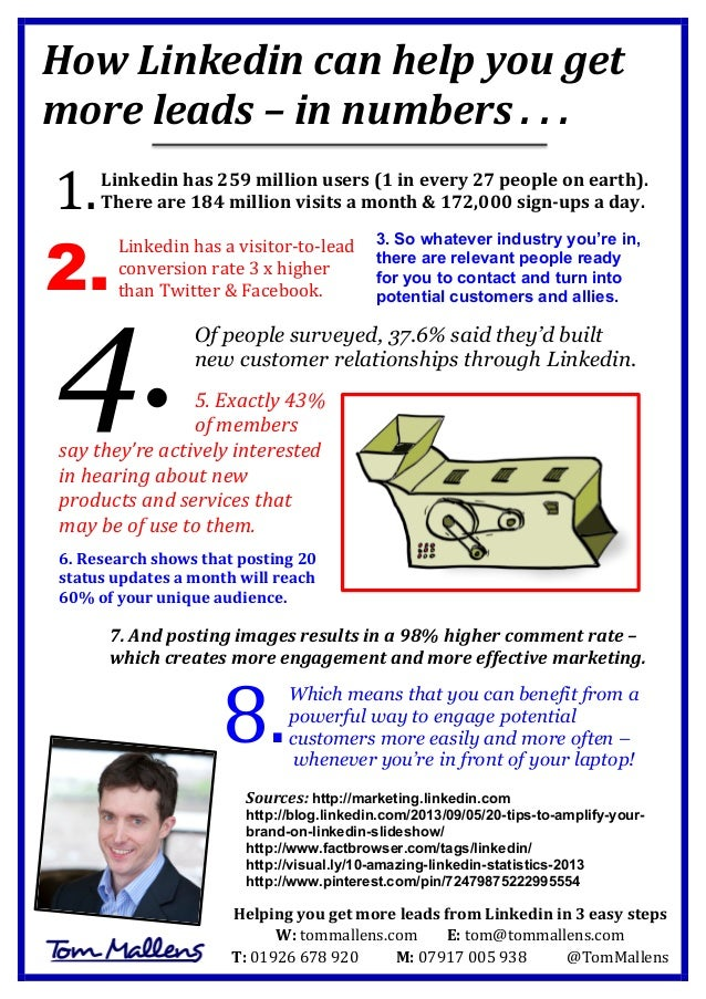 How Linkedin can help you get more leads – in numbers . . .
