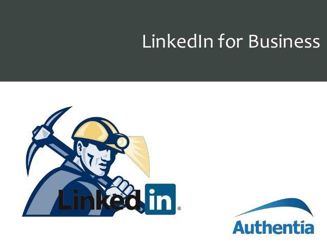 Presentation TitleLinkedIn for Business