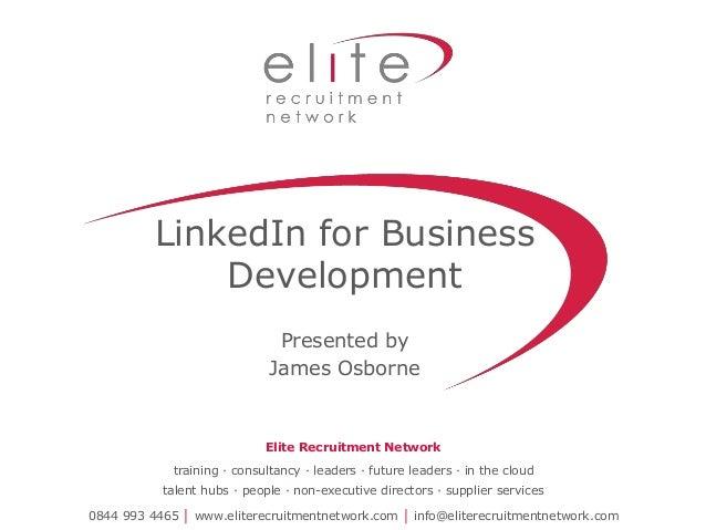 LinkedIn for Business Development SourceIn London, James Osborne