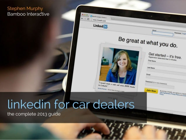 LinkedIn for Car Dealerships: 2013 Edition