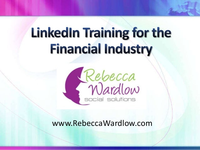 LinkedIn Training for the Financial Industry