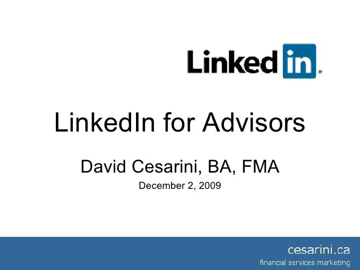 Linked In For Financial Advisors
