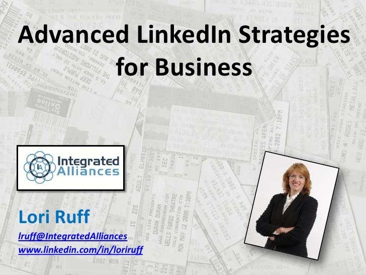 LinkedIn for MarketingProfs 7 26-10