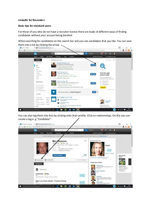 how to search for recruiters on linkedin