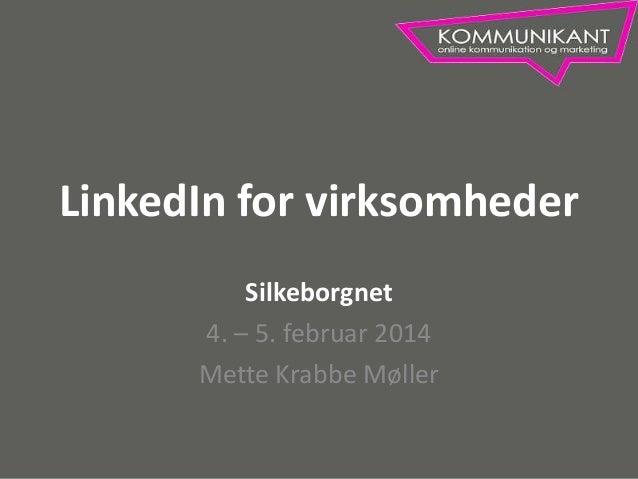 LinkedIn for virksomheder - Silkeborgnet