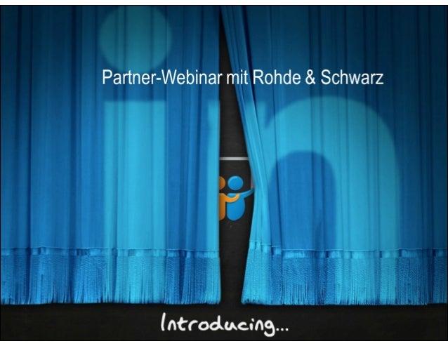 Martin Troschke Sen. Manager HR, Rohde & Schwarz Kommunikation für und Bindung der Generation Y Romina Di Fiore Manager HR...