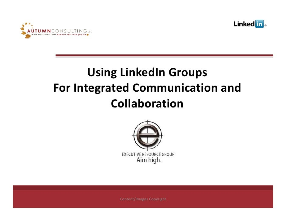 Using Linked In Groups