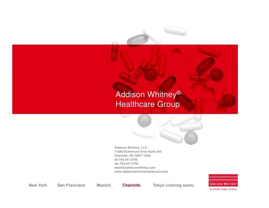 Addison Whitney®                                     Healthcare Group                                         Addison Whit...